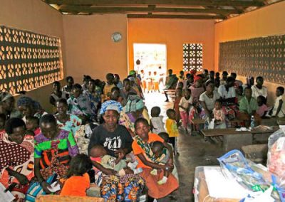 Patients waiting in Kaembeni Village